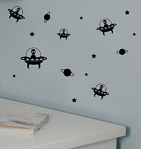 Mini Alien Wall Stickers - bedroom