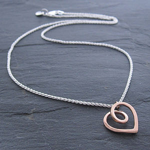 Eternal Heart Rose Gold Pendant - necklaces & pendants