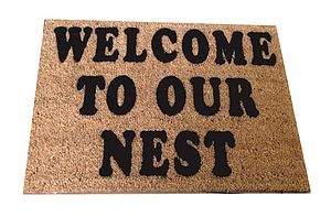 Coir Doormat Personalised - rugs & doormats