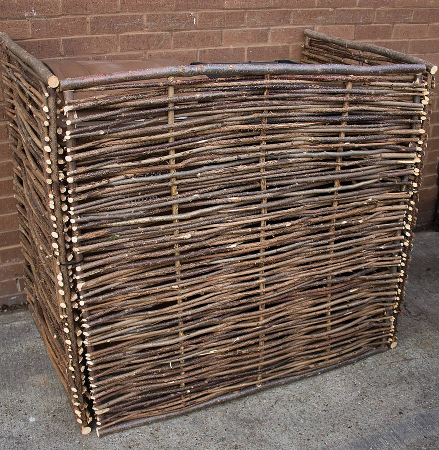 wheelie bin screen double wb2 by chairworks | notonthehighstreet.com