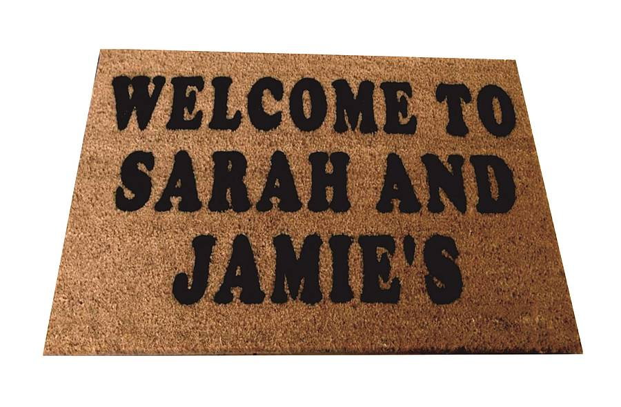Coir Doormat Personalised By Boys Christening Girls Gifts