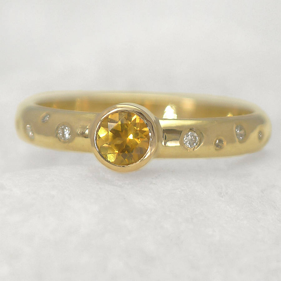 gold yellow sapphire rings � jewelry