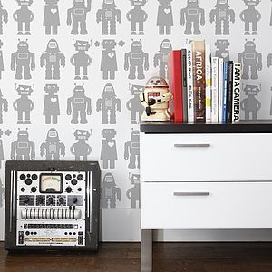 Big Robots Wallpaper - children's room