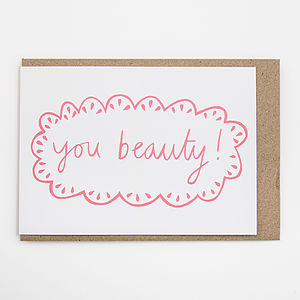 'You Beauty!' Card
