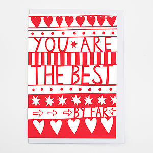 'You're The Best By Far' Card - view all gifts