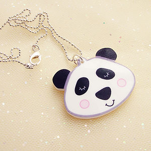 Panda Bear Children's Acrylic Necklace