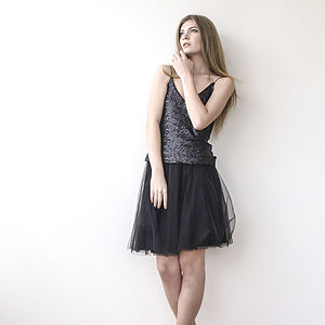Ballerina Short Party Silk Tulle Skirt