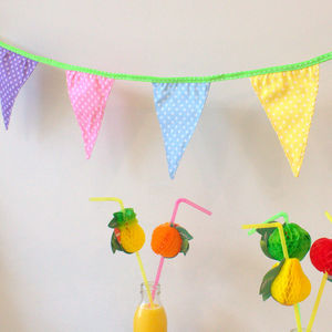 Candy Coloured Polka Dot Bunting - bunting & garlands