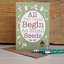 'Hello Small Seed' New Baby Card