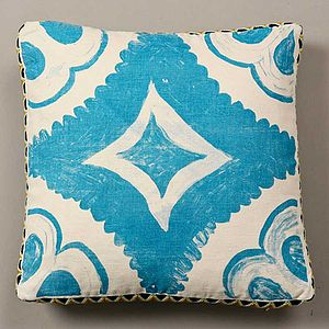 Blue Tile Cushion - cushions