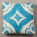 Blue Tile Cushion