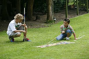 Giant Garden Pick Up Sticks - easter holiday outdoor play