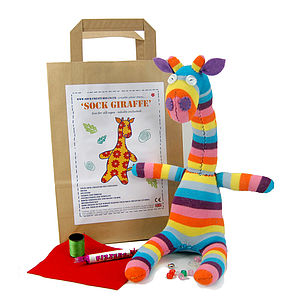 Sock Giraffe Craft Kit - creative activities