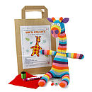 Thumb sock giraffe craft kit