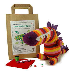 Sockosaurus Craft Kit - dinosaurs & monsters