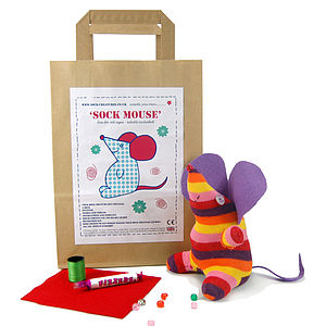Sock Mouse Craft Kit - holiday play time