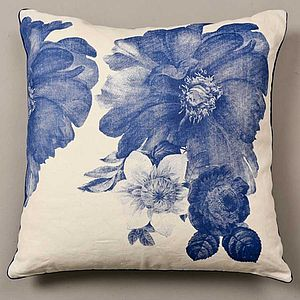 Blue Flower Cushion - living room