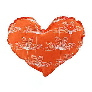 Etched Floral Large Heart Decoration - cushions