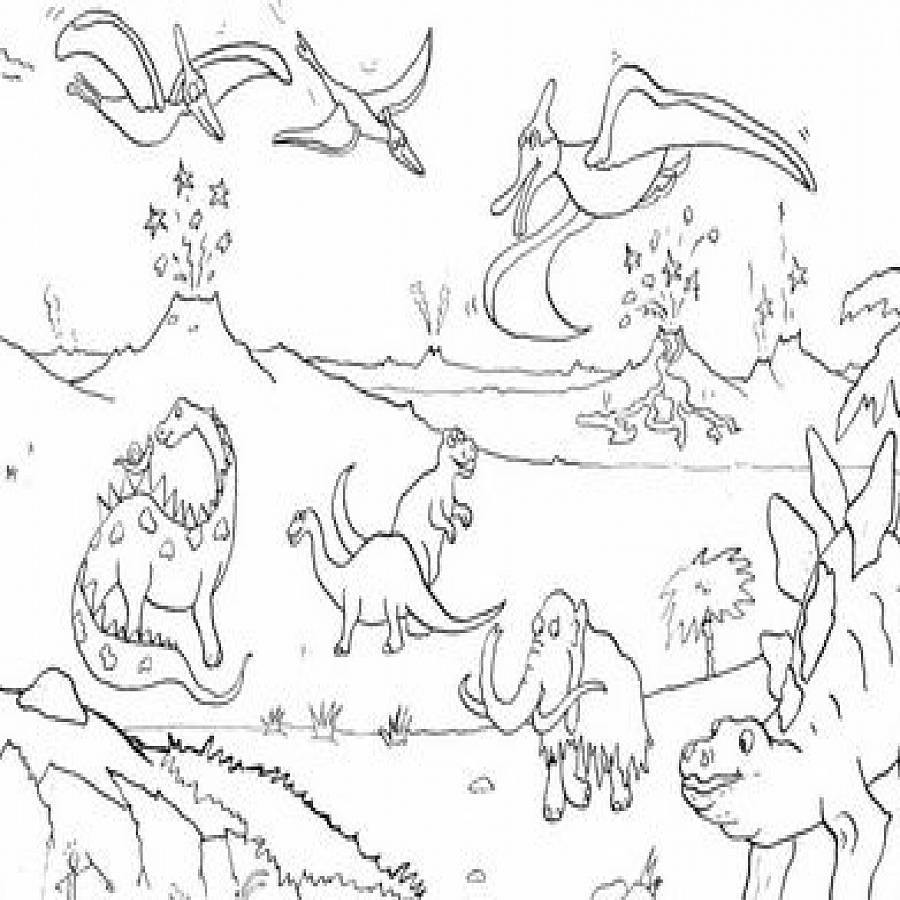 dinosaur adventure colouring in poster by really giant posters
