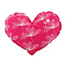 Etched Floral Large Heart Decoration
