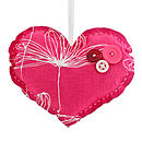 Pink Floral Medium Heart Keepsake