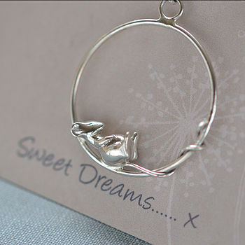 Sweet Dreams Mouse Necklace Sterling Silver