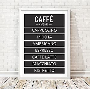 Personalised Coffee Print