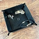 Monogrammed Cufflink, Keys And Coin Tidy Tray