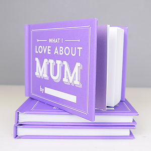 Personalised What I Love About Mum Book - token gifts