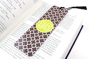 Personalised Clover Metal Bookmark