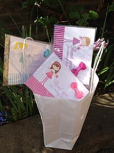 Party Bag Fillers Fairy Cards And Hair Bow - children's parties