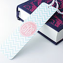 Personalised Chevron Metal Bookmark
