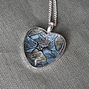 Liberty Blue Floral Heart Necklace