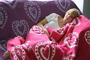 Hearts Blanket - throws, blankets & fabric