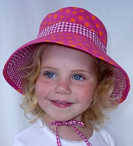 Girls Reversible Sun Hats - swimwear & beachwear