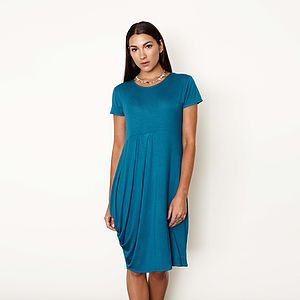 Relaxed Pleated Dress - women's fashion