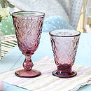 Amethyst Peardrop Goblet And Footed Tumbler