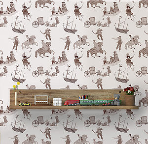 Rascals Brown, Wallpaper For Children - office & study