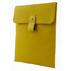 Yellow Leather iPad Case