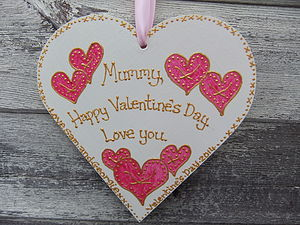 Mum's Personalised Keepsake Heart - gifts for the home