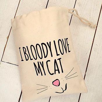 'Love My Cat' Cat Treat Bag