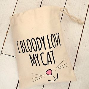 'Love My Cat' Cat Treat Bag - cats