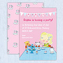 Personalised Girls Tea Party Invitations