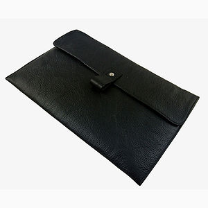 Black Leather 11 Inch Macbook Air Case - laptop bags & cases