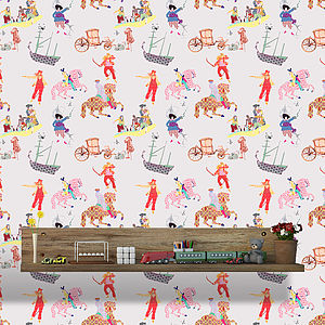 Rascals White, Wallpaper For Children - home decorating