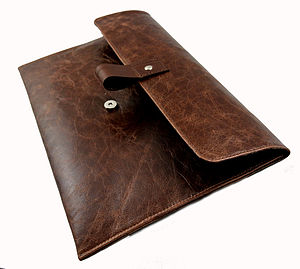 Brown Leather 13 Inch Macbook Air Case - bags