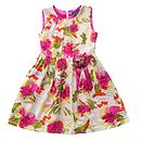 Girl's Hot Pink Floral A Line Dress