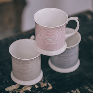 Bone China Cotton Reel Cup - tableware