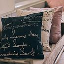 Enlarged Postcard Print Cushion