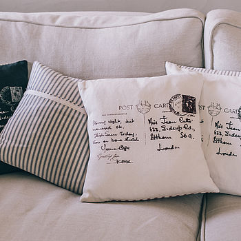 Postcard Print Cushion